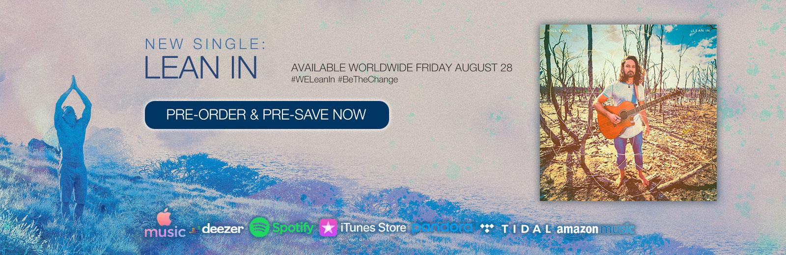 Will Evans - Lean In (Single)